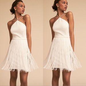 BHLDN Aidan Mattox Levine Fringe Mini Dress NWT